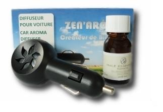 lot diffuseur huile essentielle pour voiture zen 39 ar me comptoir beaut sant. Black Bedroom Furniture Sets. Home Design Ideas