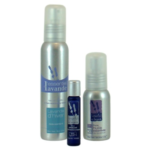 Skincare products with essential oil of lavandin in gift - box - L'Essentiel de Lavande