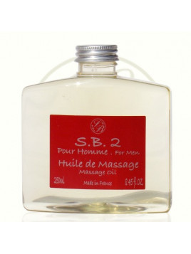 Massage oil for men - S.B.2 -  Savonnerie de Bormes