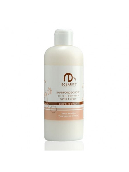 Shower & shampoo - donkey milk Shea & Argan - 400 ml - Eclarité