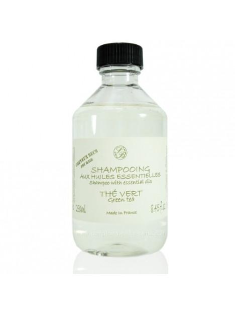 Shampoo with Essential Oils Green tea  - Savonnerie de Bormes