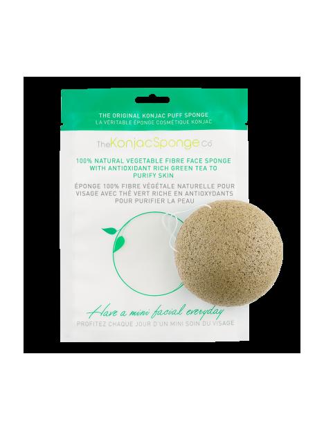 Facial puff sponge 100% pur Konjac with green tea - Konjac Sponge Co.
