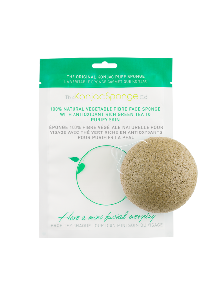 Facial puff sponge 100% pur Konjac with green tea - Konjac Sponge Co.