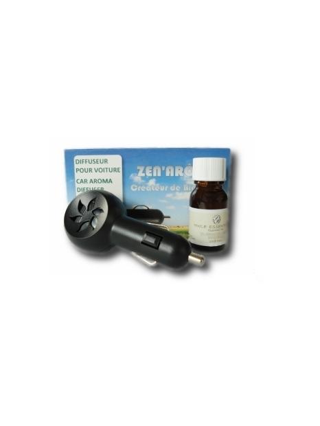 Lot diffuseur + huille essentielle pour voiture - Zen'Arôme
