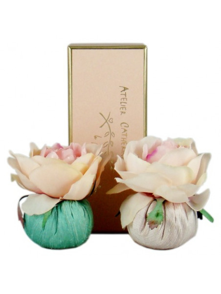 Gift box of 2 baby pouchs , collection Dentelles - Atelier Catherine Masson