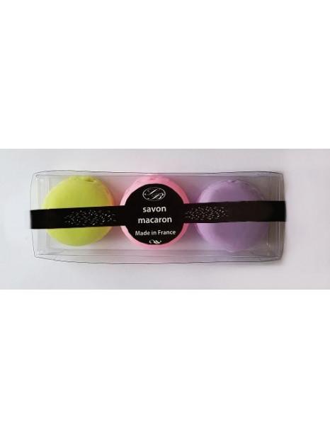 Composition de 3 savons-macarons - Savonnerie de bormes