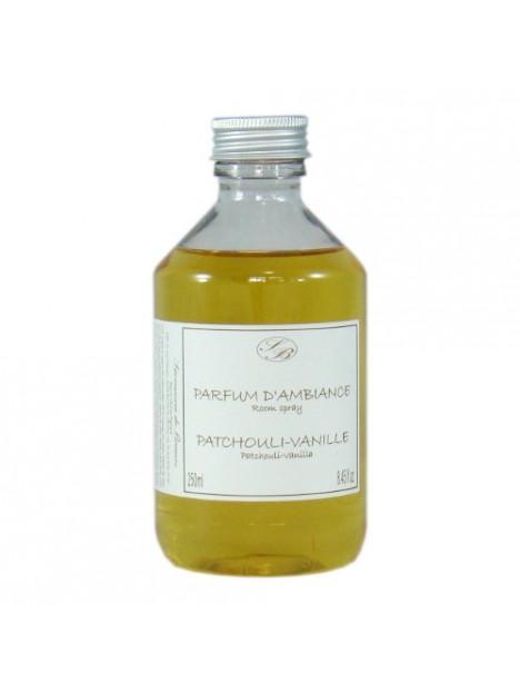 Recharge of perfume for Aromatic rattan stick diffuser - Patchouli vanilla - 250ml - Savonnerie de Bormes