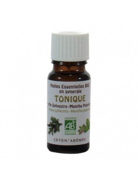 Synergie Tonique - mélange huiles  essentielles bio - 10ml - Ceven'Arômes