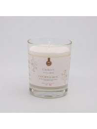 Scented candle, patchouli & musc scent, L'atelier C. fabrication